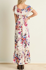 Umgee USA Floral Maxi Dress - Side cropped