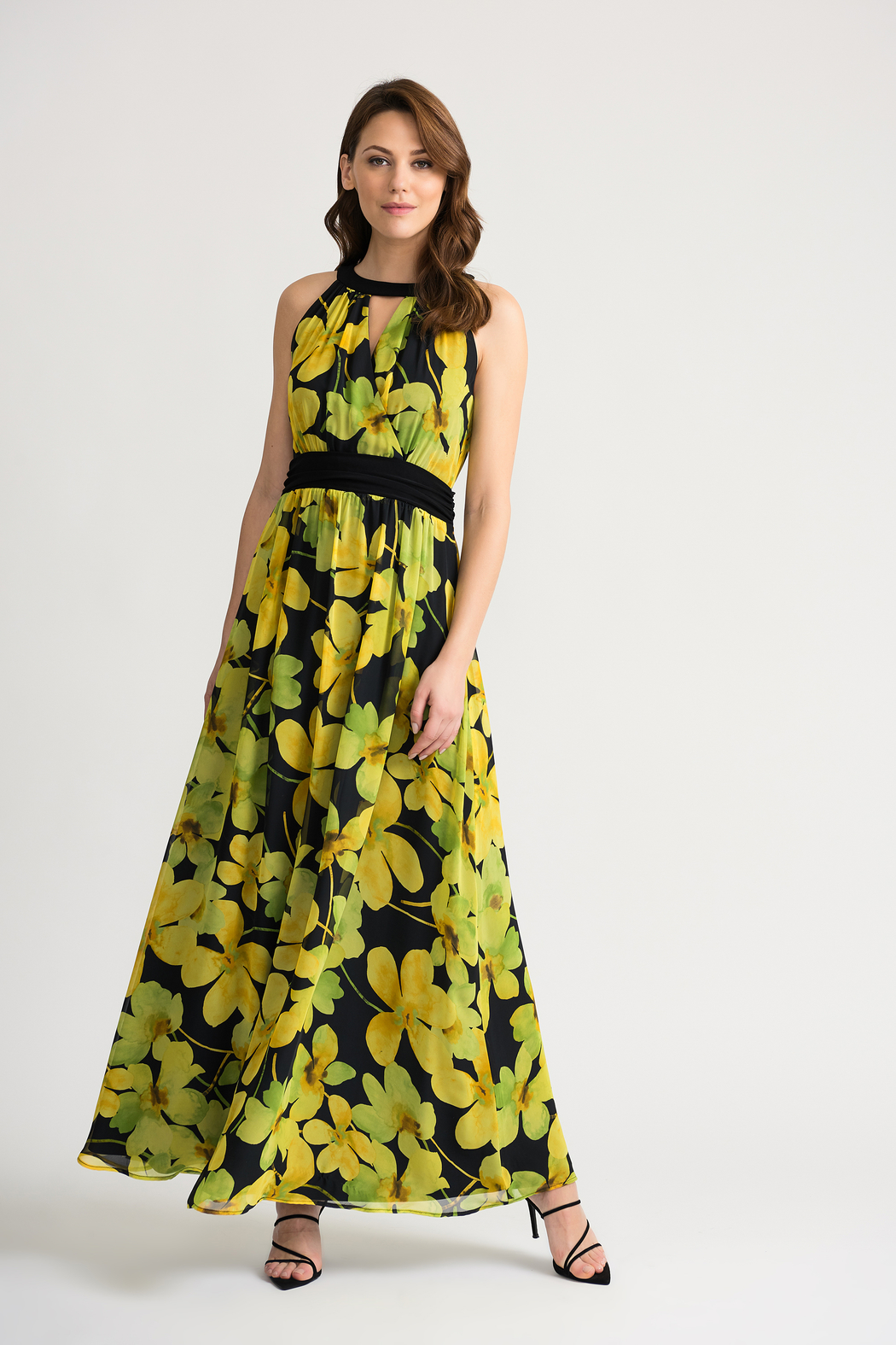 Joseph Ribkoff Floral Maxi Dress - Front Cropped Image