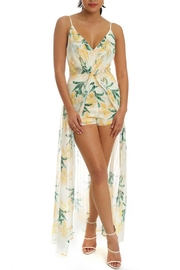 luxxel Floral Maxi Romper - Front cropped