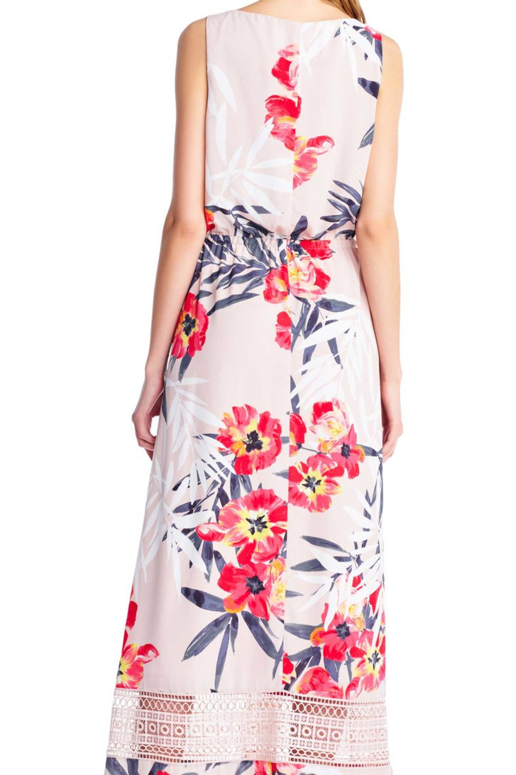 Adrianna Papell Floral Maxi Sheath - Front Full Image