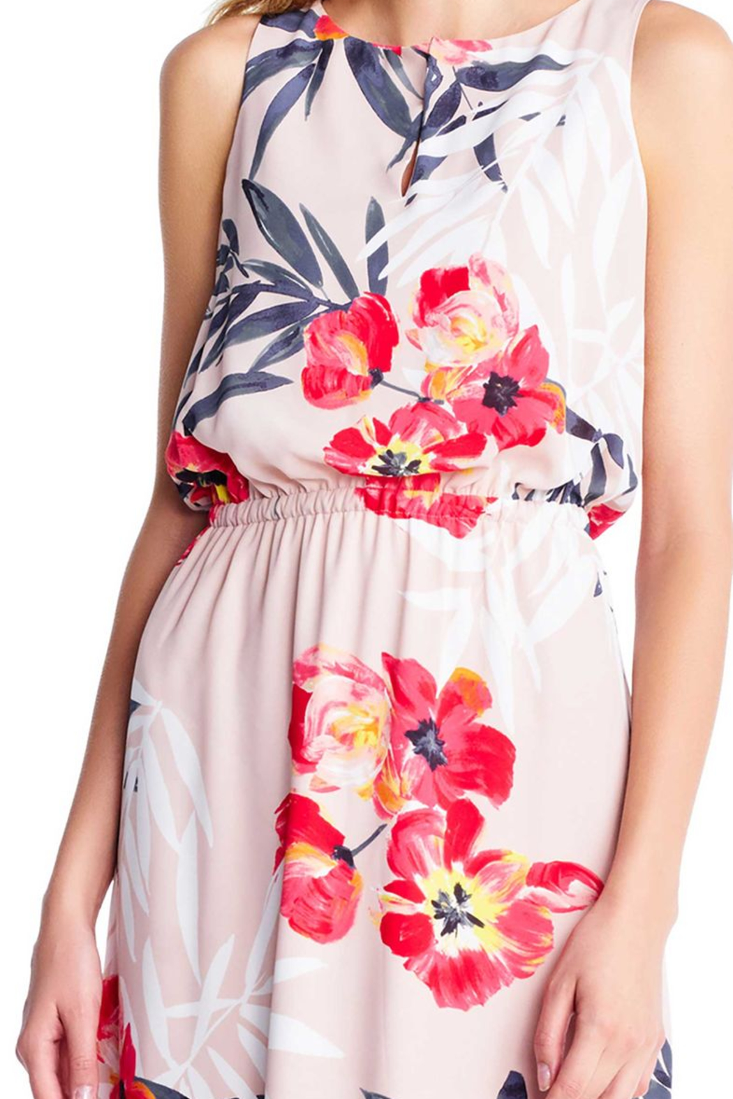 Adrianna Papell Floral Maxi Sheath - Side Cropped Image