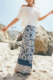 Sage Floral Maxi Skirt - Front full body