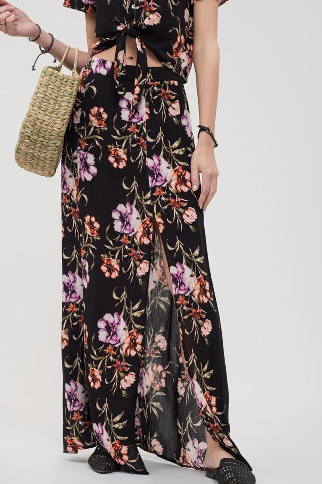Blu Pepper Floral Maxi Skirt - Main Image