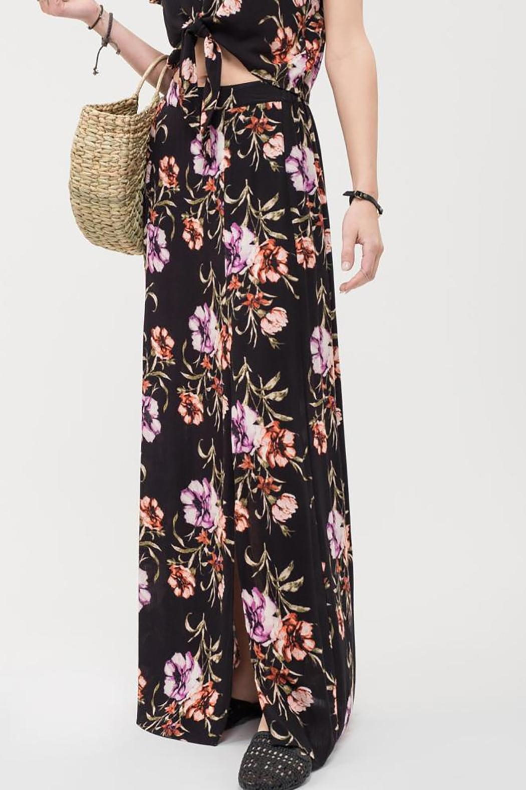 Blu Pepper Floral Maxi Skirt - Side Cropped Image
