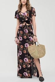 Blu Pepper Floral Maxi Skirt - Back cropped