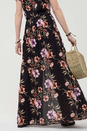 Blu Pepper Floral Maxi Skirt - Front full body