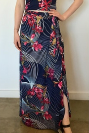 Veronica M Floral Maxi Wrap Skirt - Product Mini Image