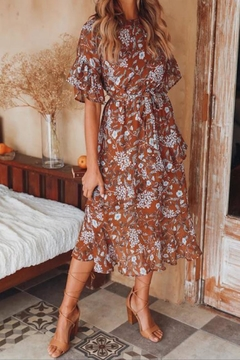 Selfie Leslie Floral Midi Dress - Product List Image
