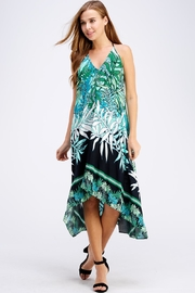 AAKAA Floral Midi Dress - Front cropped