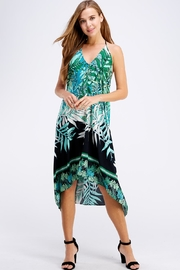 AAKAA Floral Midi Dress - Front full body