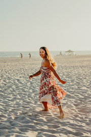 75 degrees and fuzzy Floral Midi Dress - Product Mini Image
