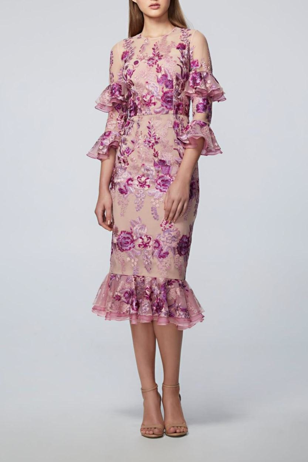David Meister Floral Midi Dress from New Jersey by District 5 ...
