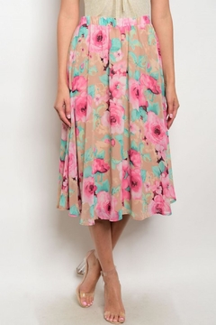 Shoptiques Product: Floral Midi Skirt