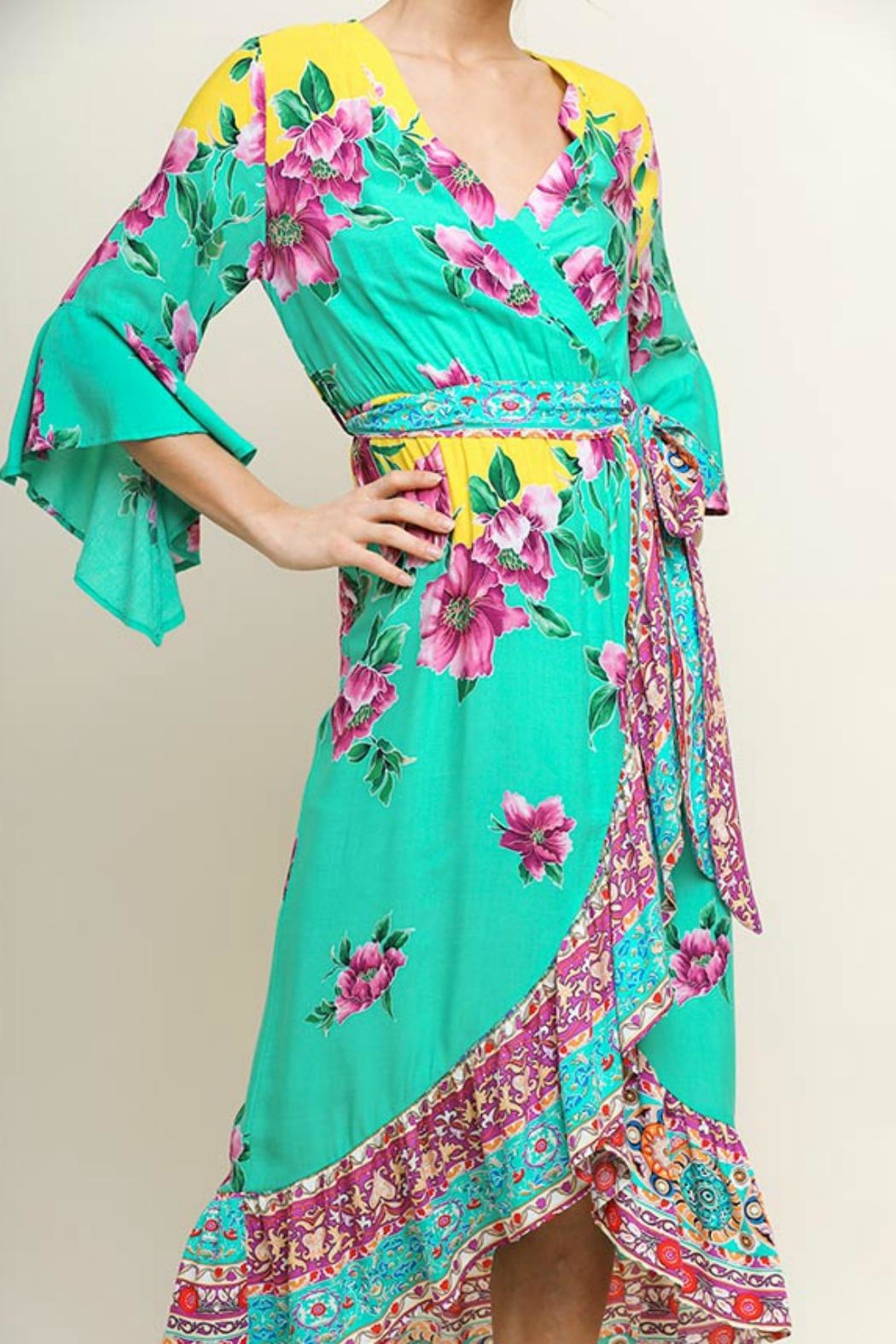 Umgee USA Floral Midi Wrap - Front Full Image