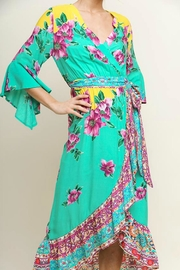 Umgee USA Floral Midi Wrap - Front full body