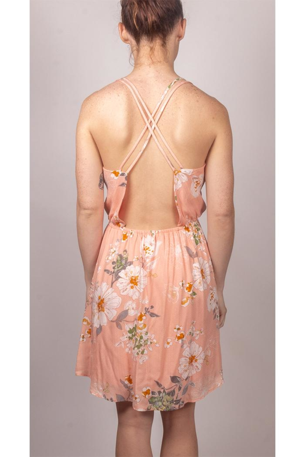 Final Touch Floral Mini Dress - Back Cropped Image