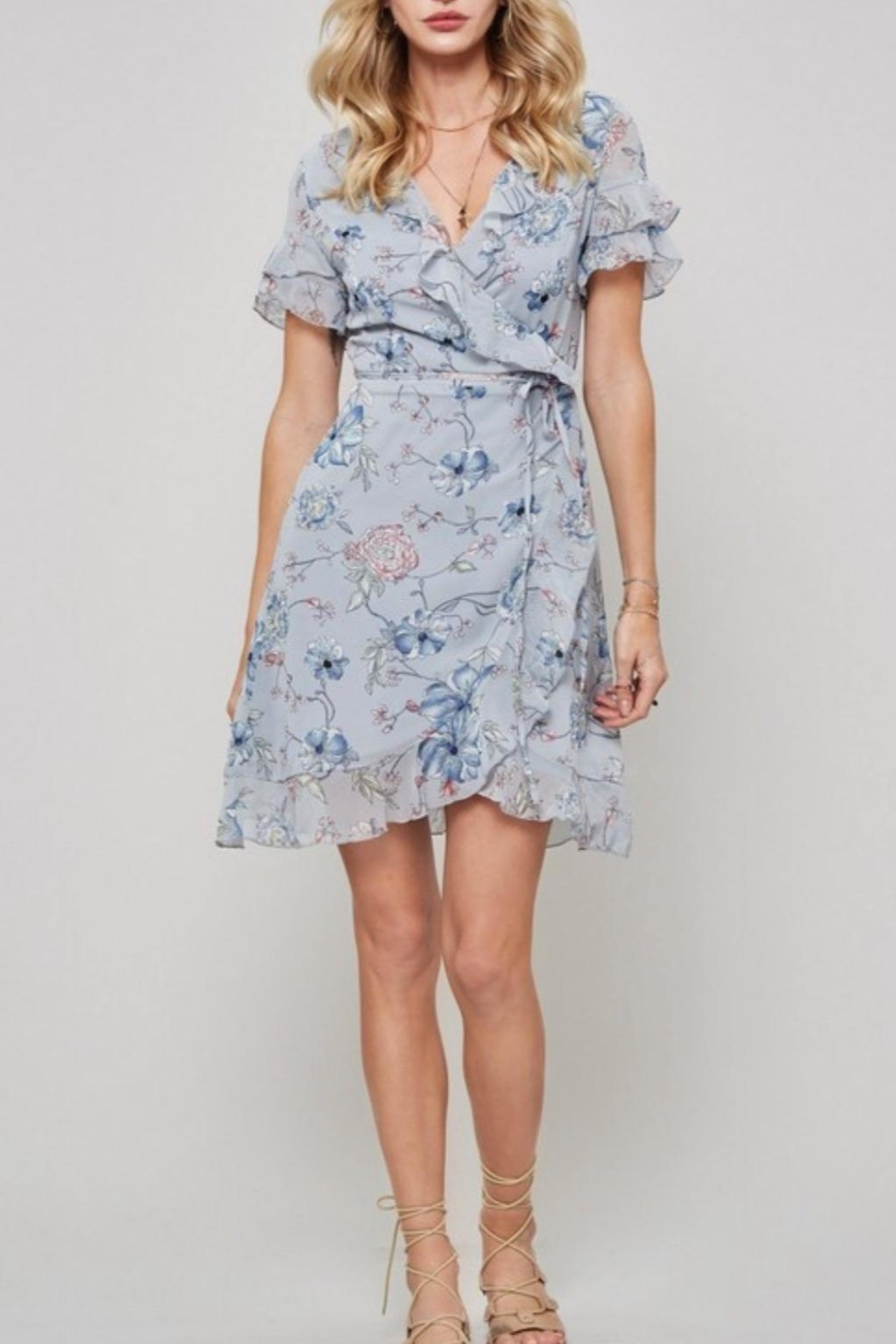 Promesa USA Floral Mini Dress - Front Cropped Image