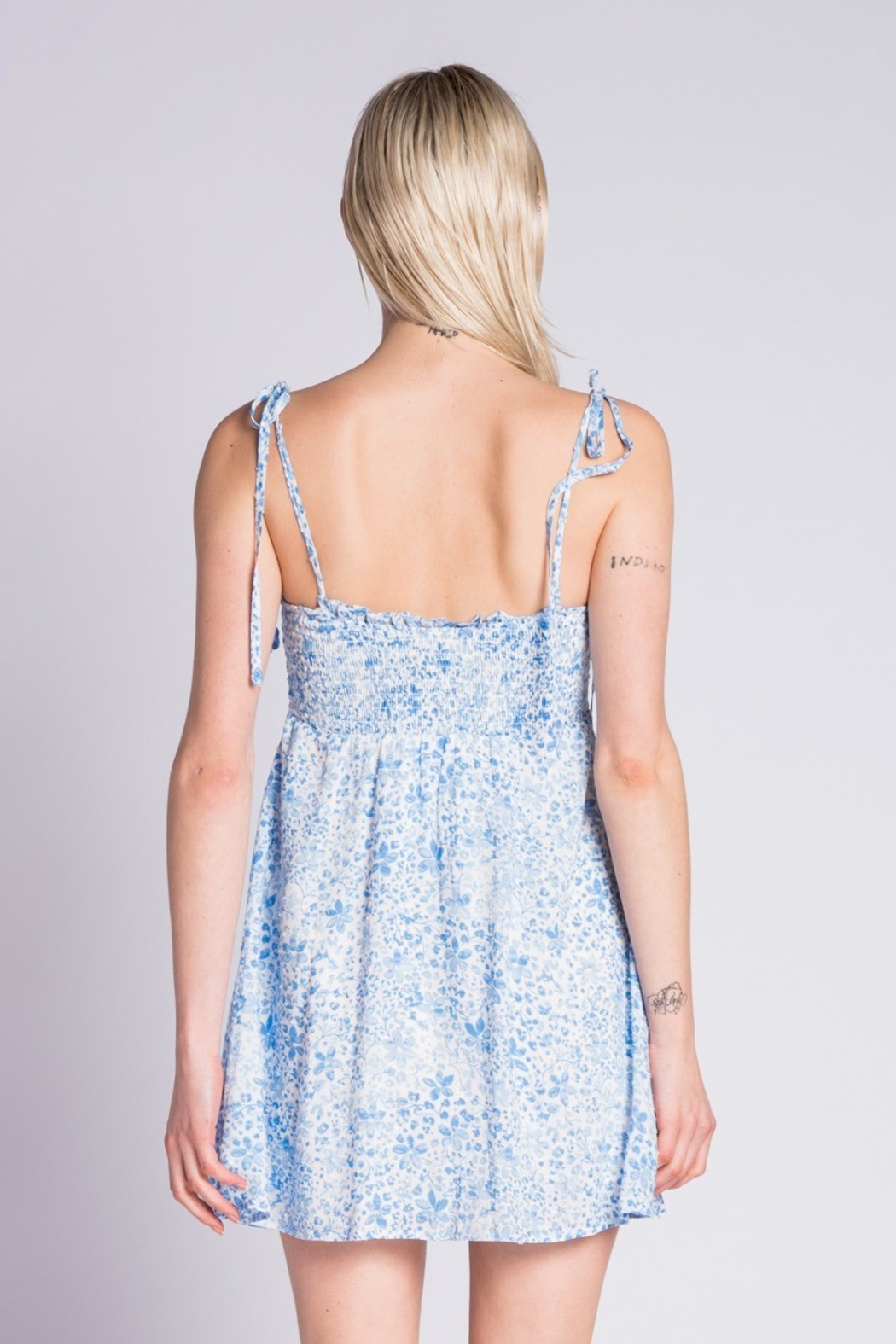 Skylar & Madison Floral Mini Dress - Side Cropped Image