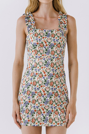 Endless Rose Floral Mini Dress with Ruffled Straps - Product Mini Image