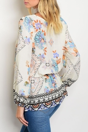 Always Me Floral Mock Top - Front full body