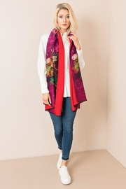 Pia Rossini Floral Multi-Colored Scarf - Front cropped