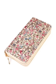 Riah Fashion Floral Multi-Tone Wallet - Front cropped