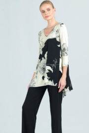 Clara Sunwoo  Floral Mum Print with Side Vents - Front cropped