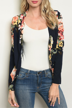 Kaii Floral Navy Blazer - Product List Image
