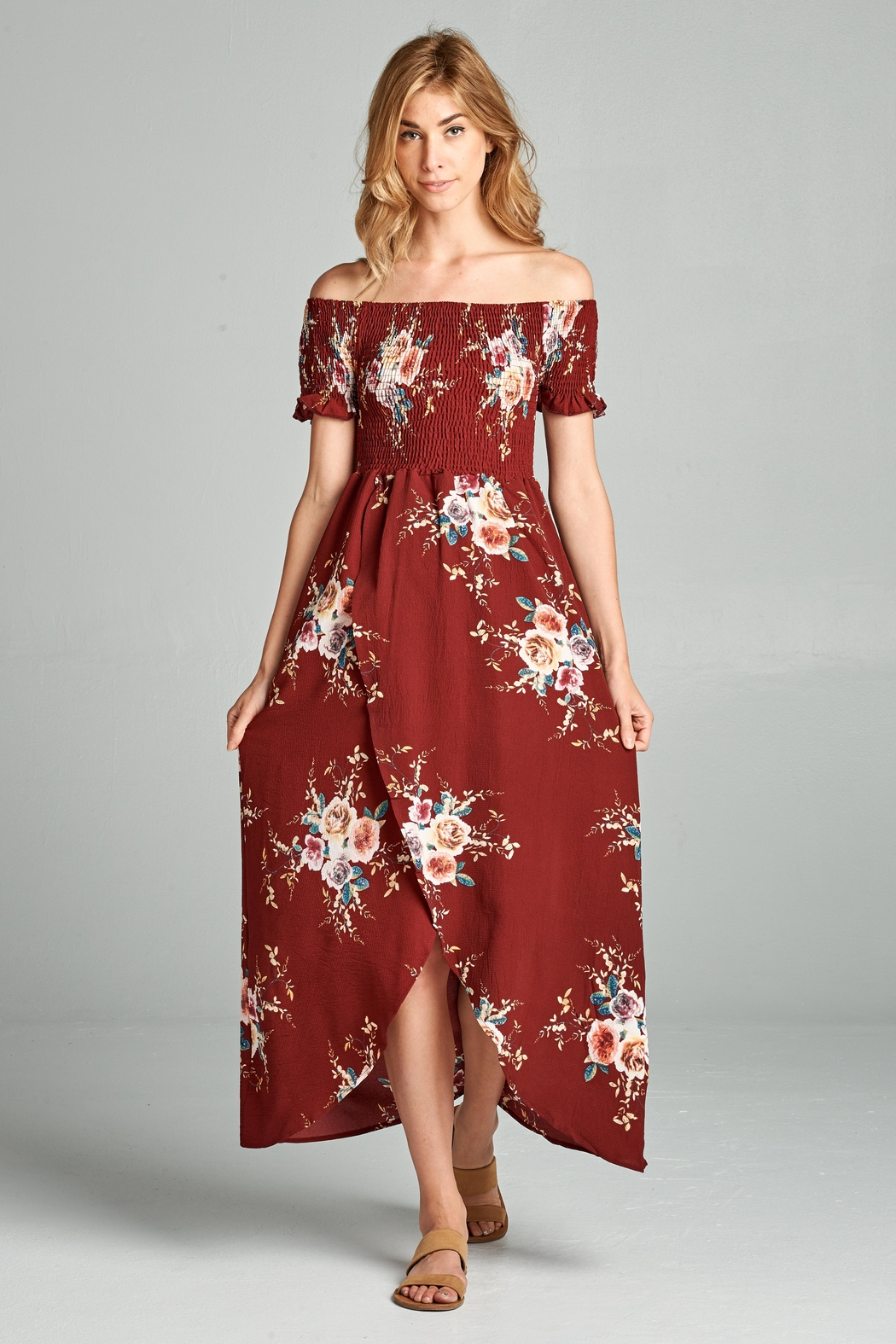 cafc0b4ead Racine Floral Off-Shoulder Maxi-Dress from California by Racine Love ...