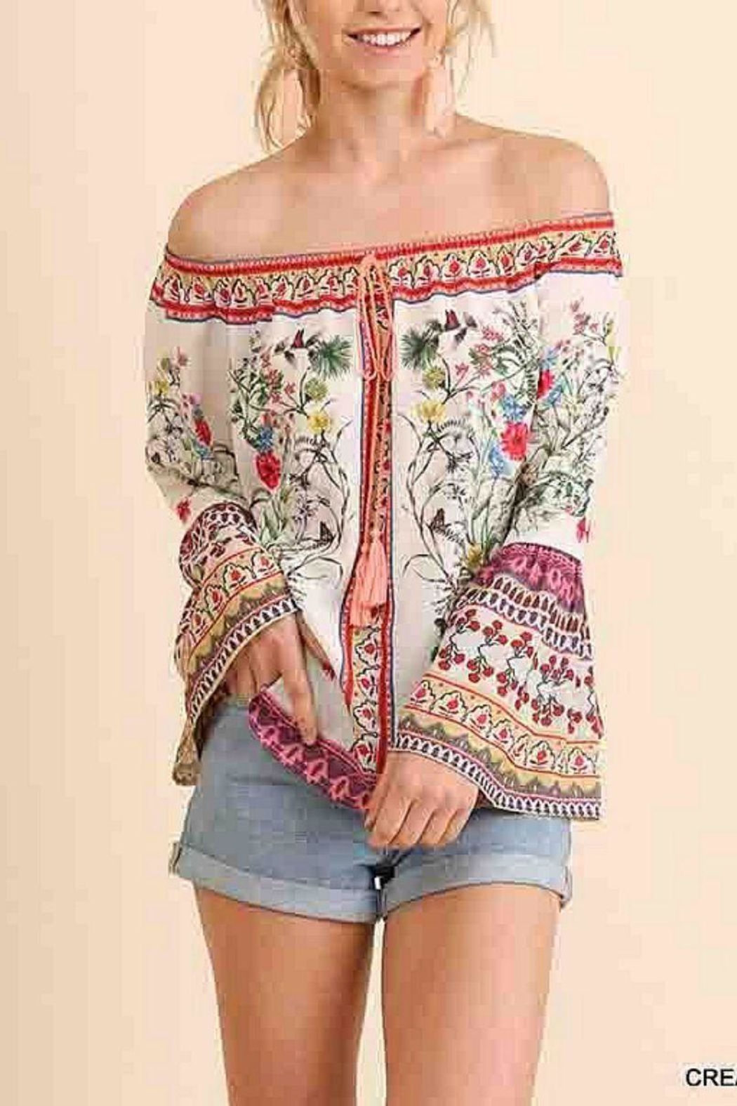 Umgee USA Floral Off-Shoulder Top - Main Image