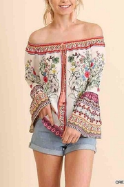 Umgee USA Floral Off-Shoulder Top - Front cropped