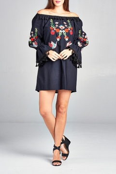 Shoptiques Product: Floral Off-Shoulder Tunic