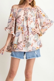 easel Floral Off-The-Shoulder Top - Product Mini Image