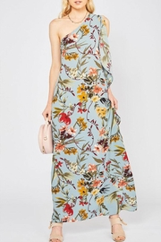 Entro Floral One-Shoulder Maxi - Product Mini Image