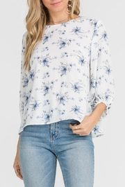 Lush Floral Open-Back Top - Product Mini Image