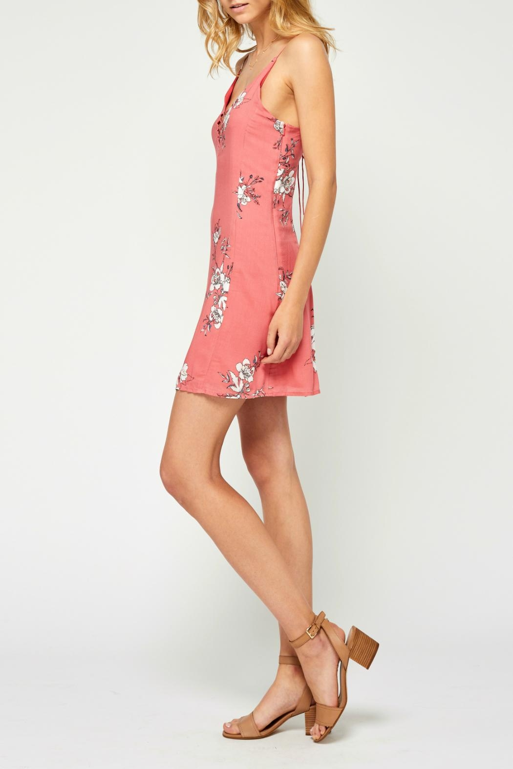 Gentle Fawn Floral Openback Dress - Front Full Image