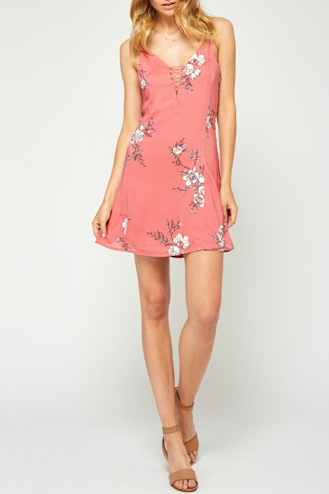 Gentle Fawn Floral Openback Dress - Main Image