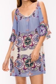 Glam Floral paisley dress - Front cropped