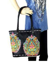 Montana West Floral Paisley Embroidered Carry Conceal Handbags - Product Mini Image