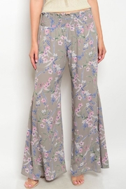 Peach Love California Floral Palazzo Pants - Product Mini Image