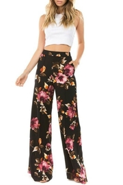 Two Heart Floral Palazzo Pants - Product Mini Image