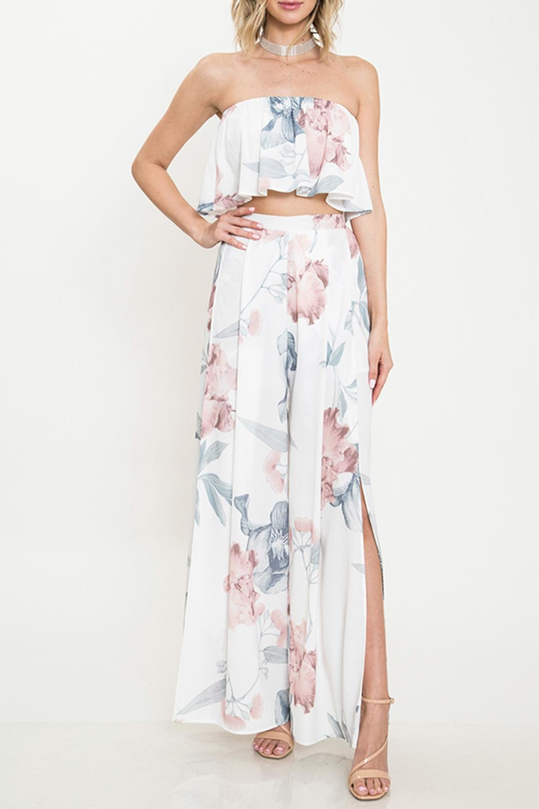 Latiste Floral Pant Set - Front Cropped Image