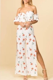 E2 Clothing Floral Pant Set - Front cropped