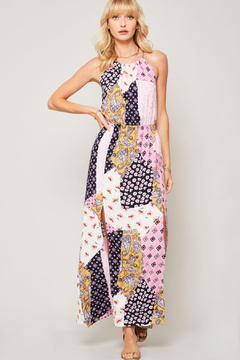 R+D Floral Patchwork Halter Dress - Product List Image