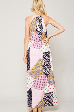R+D Floral Patchwork Halter Dress - Alternate List Image