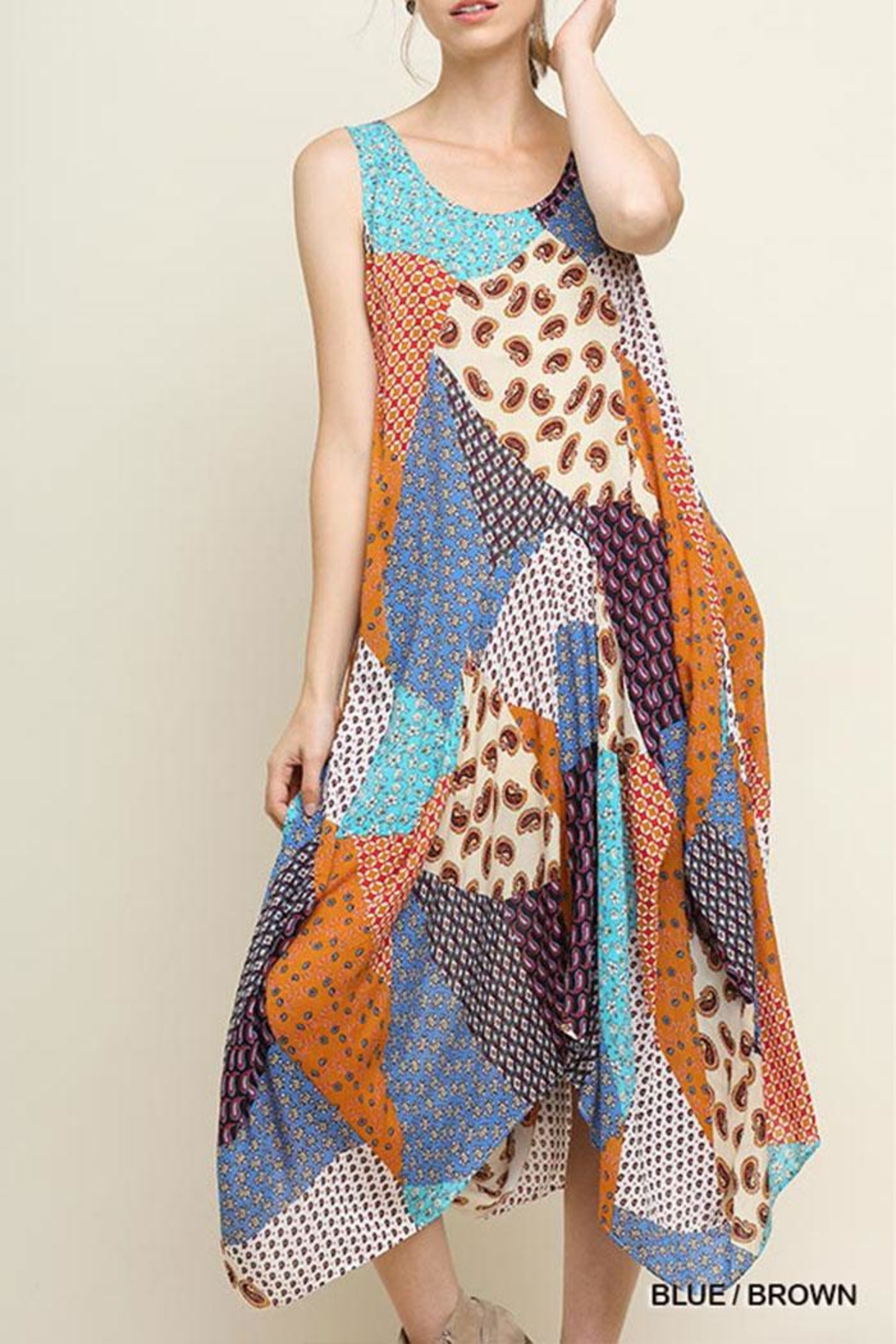 fbbc6831c6 Umgee USA Floral Patchwork Maxi-Dress from California by Nadya s ...