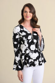 Joseph Ribkoff Floral Pattern Top - Product Mini Image