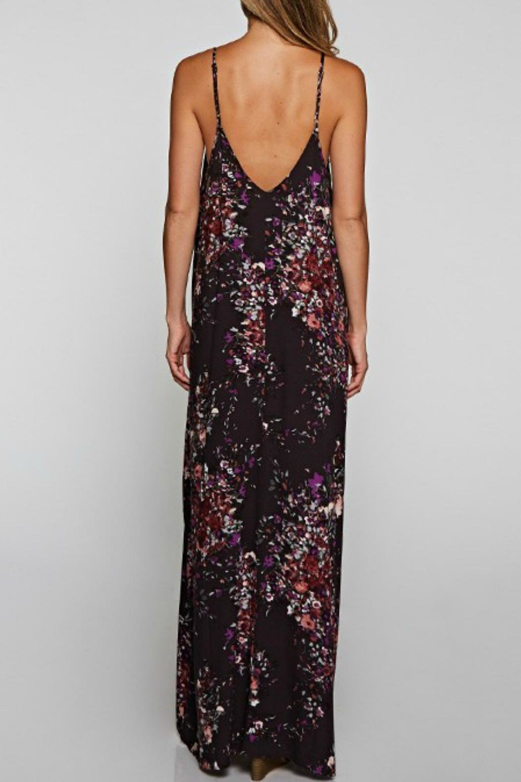 Love Stitch Floral Patterned Maxi - Front Full Image