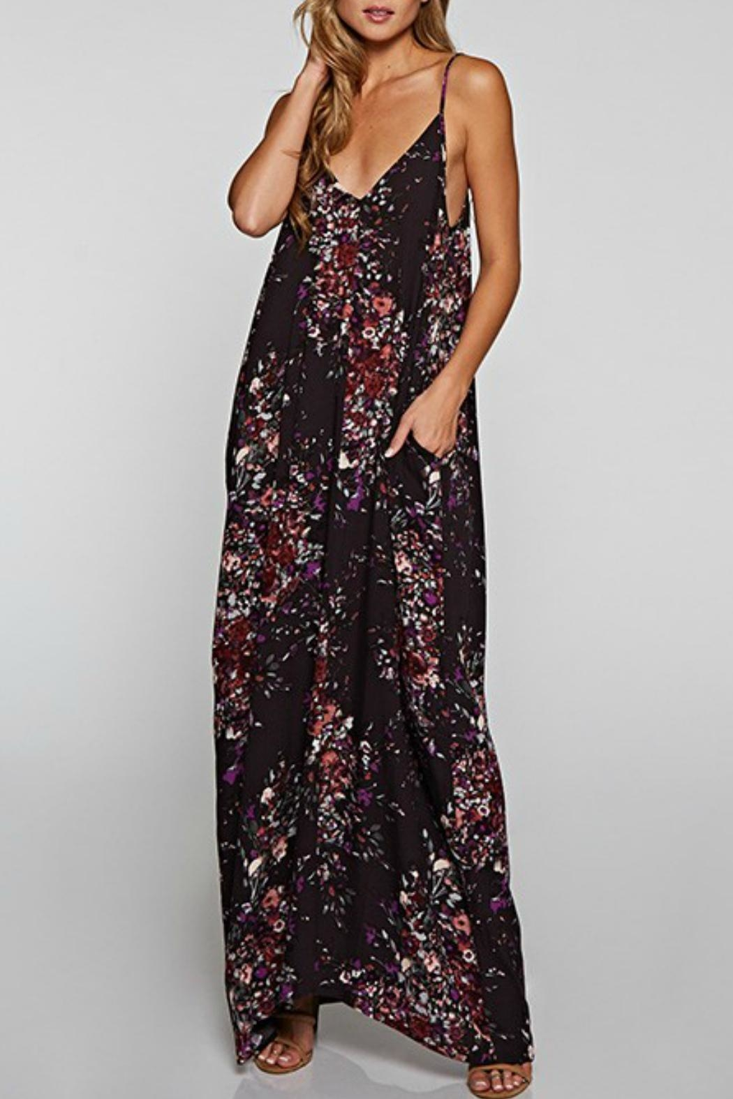 Love Stitch Floral Patterned Maxi - Main Image