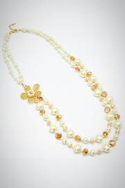 Embellish Floral Pearl Necklace - Product Mini Image